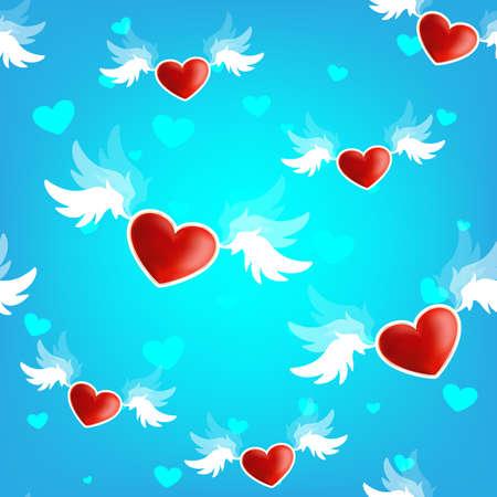 Hermosa textura perfecta de corazón en las alas de love.vector ilustración. Foto de archivo - 42062276