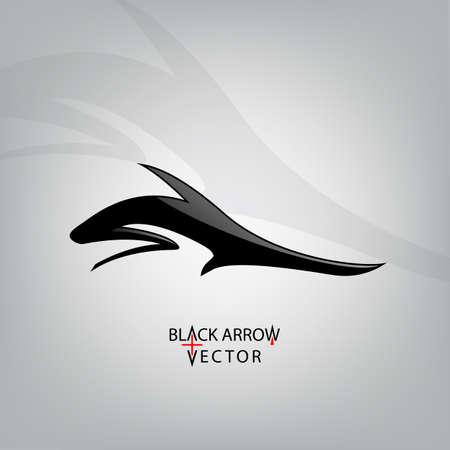 Icône flèche, noir illustration vectorielle. Sous-symbole