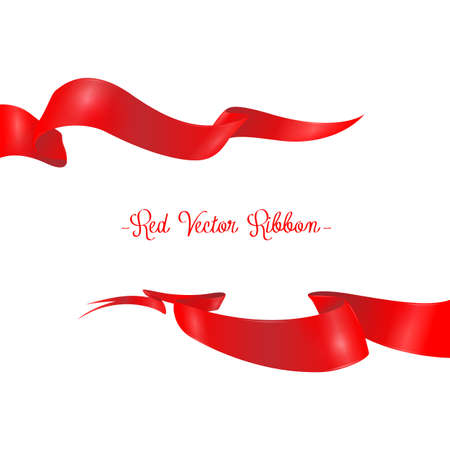 grand sale sticker: Red ribbons horizontal banners set isolated vector illustration