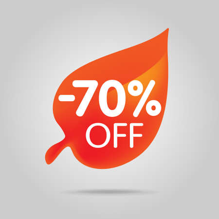 Special offer sale orange tag isolated vector illustration.