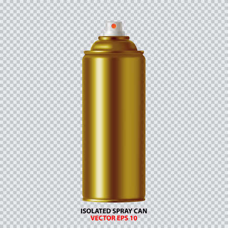 Golden aerosol paint bottle icon.