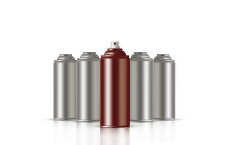 Copper Paint Aerosol Spray Metal Bottle Can, Graffiti, Deodorant, Household Chemicals, Poison.