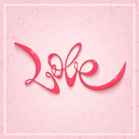 Happy Valentines Day greeting card. Vector banner or poster template. Postcard for a loved one.