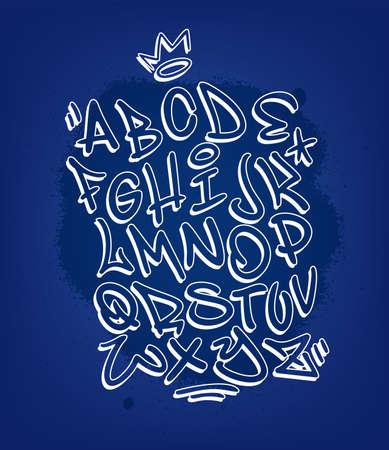 Handwritten graffiti alphabet font alphabet design