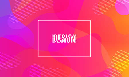 Colorful geometric background. Fluid shapes composition. Фото со стока - 97837417
