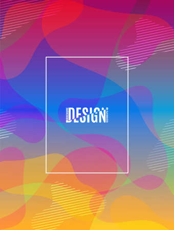 Colorful geometric background. Fluid shapes composition.