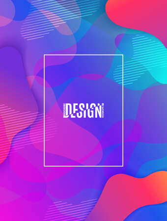 Fluid shapes composition. Colorful geometric background. Vector EPS 10