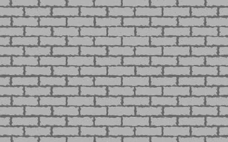 Gray brick wall seamless Vector illustration background EPS 10