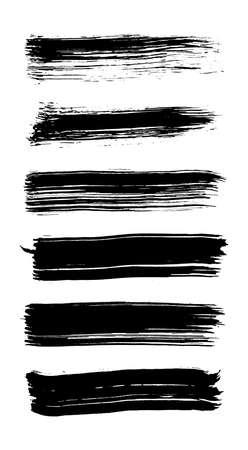 A set of grunge brush strokes. Vector brush stroke illustration EPS 10