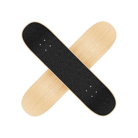 Skateboard template for your design. Vector realistic illustration EPS 10 일러스트