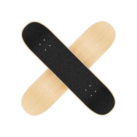 Skateboard template for your design. Vector realistic illustration EPS 10 Illustration