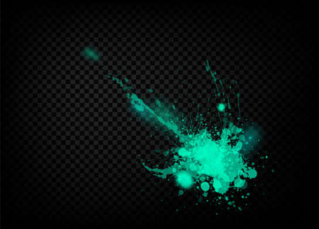 The explosion and scatter paint on a transparent background. Vector template EPS 10