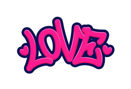 Love. Tag Graffiti Style Label Lettering. Vector Illustration. Vector illustration Eps 10