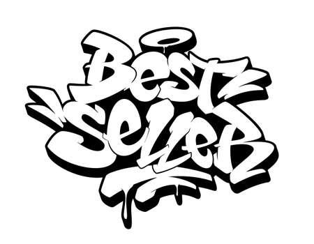 Bestseller sign, emblem, label, badge,sticker. Hand drawn graffiti image. Vector illustration Banque d'images - 127435391