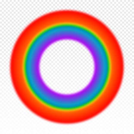 Bright circle rainbow illustration on transparent background. Vector illustration Иллюстрация