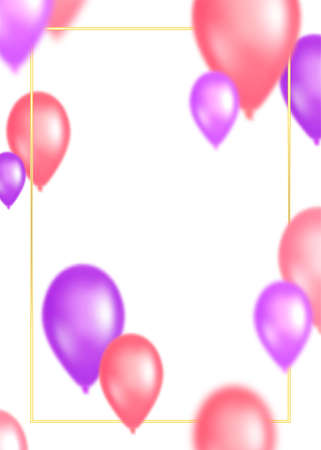 Colorful abstract cover design with flying balloons. Vector illustration