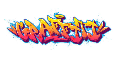 Graffiti font in old school graffiti style. Vector illustration. Vector Illustration
