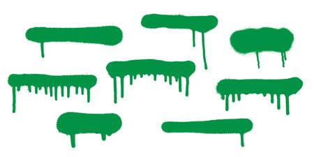 Graffiti spray banner set. Vector illustration highly detailed template for backgrounds or design. Vettoriali