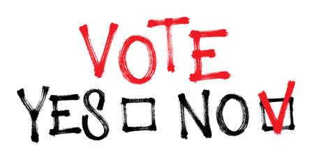 Vote against. Say no. Vector illustration for election.