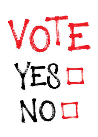 Vote yes or no. Make your choice. Vector illustration for election EPS 10 向量圖像