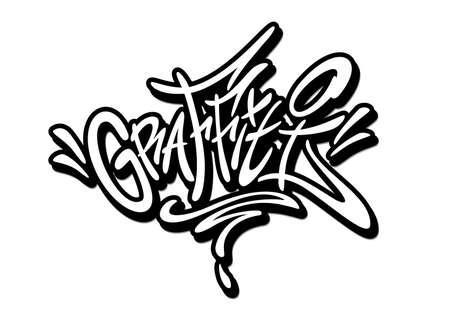 Graffiti word drawn by hand in graffiti style. Vector illustration Vettoriali