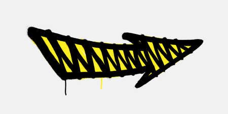 Graffiti arrow directed to the right with drips of paint. Vector illustration Фото со стока - 158439302