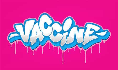 Graffiti font in graffiti style. Vector illustration.