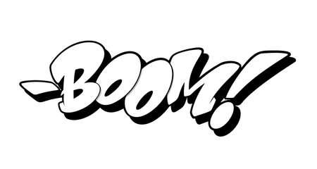 Boom font in graffiti style. Vector illustration.