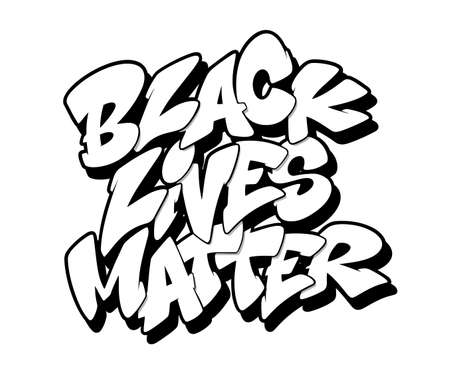 Black lives matter font in graffiti style. Vector illustration.