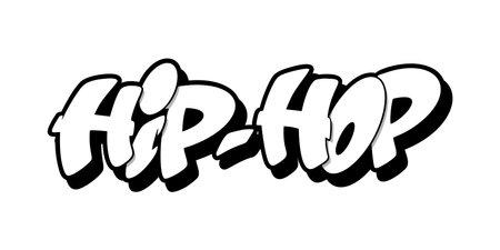 Hip hop font in graffiti style. Vector illustration.