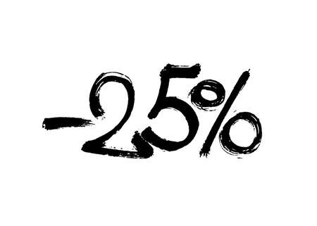 Graffiti lettering discount -25 percent. Vector template on white background 向量圖像