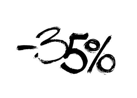 Graffiti lettering discount -35 percent. Vector template on white background