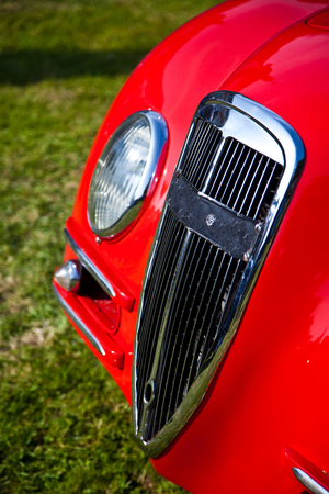 oldies: Classic car with radiator grill Stock Photo
