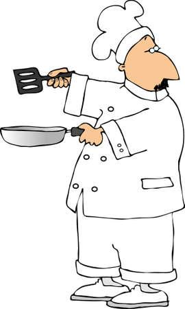 cook cartoon: Chef
