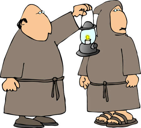 Two monks photo
