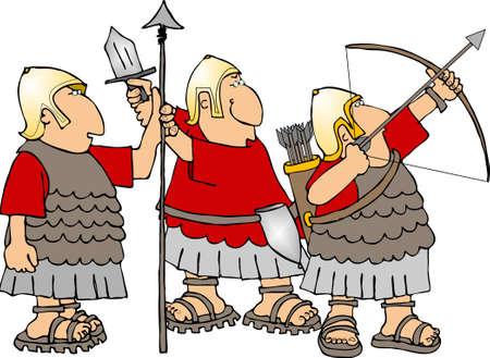 cascos romanos: Soldados romanos