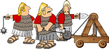 Soldados romanos Foto de archivo - 401508