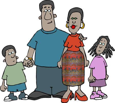 lass: Family Stock Photo
