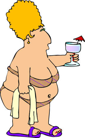 regordete: Gordita mujer en un bikini