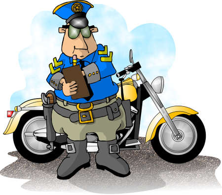 Motorcycle cop photo
