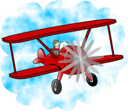 Bi-plane  Archivio Fotografico - 401465