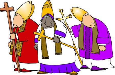 Obispos cat�licos  Foto de archivo - 401460