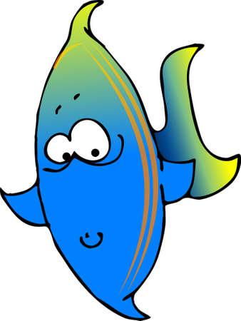 青い魚 写真素材