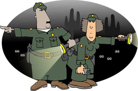 Border patrol Banco de Imagens