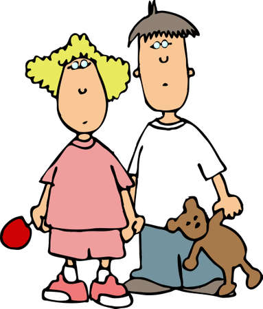 Boy & girl Reklamní fotografie