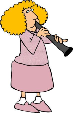 clarinet player: Clarinet player Stock Photo