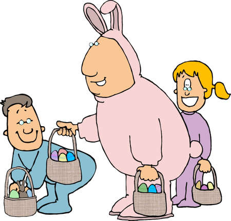 Man in an Easter bunny costume Stock Photo - 392833