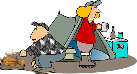 lass: Camping trip