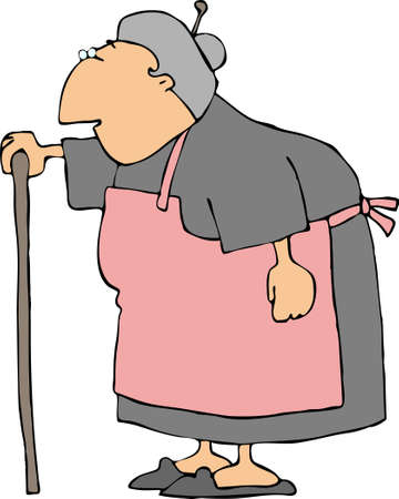 old people: Grandmother