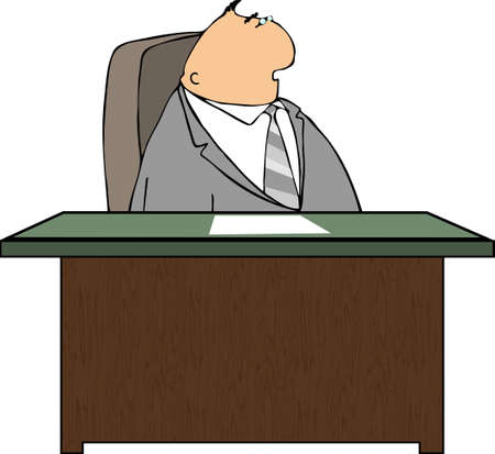 Man at a desk Stock Photo